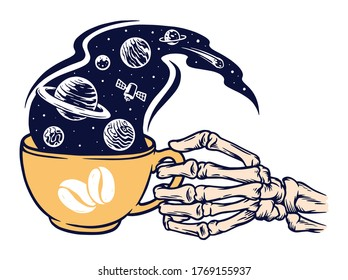 coffee of the universe vector illustration