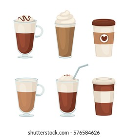 Coffee vector set on a white background