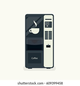 coffee vending machine isolated on white. vector illustration