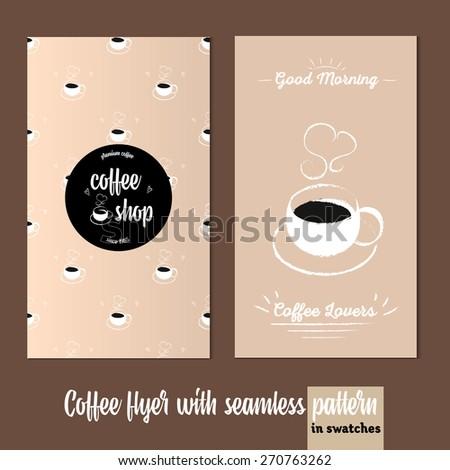 coffee vertical flyer menu template flyer stock vector royalty free