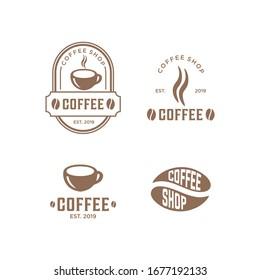 coffee vintage logo premium vector set