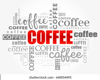 Coffee Words Cloud Collage Art Concept Stock Vector Royalty Free