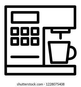 Coffeemaker line icon. Coffee machine vector illustration isolated on white. Appliance outline style design, designed for web and app. Eps 10