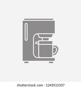 Coffeemaker Modern Simple Vector Icon