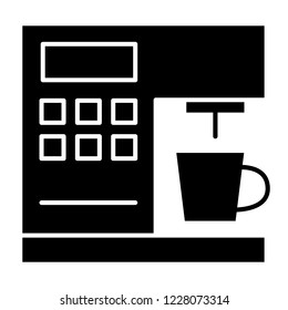 Coffeemaker solid icon. Coffee machine vector illustration isolated on white. Appliance glyph style design, designed for web and app. Eps 10