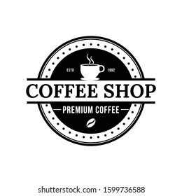 CoffeeShop vector logo template. Professional logo for coffee shop brand, cafe or restaurant.