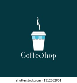 coffeshop logo lllustration