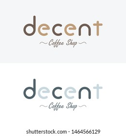 Coffeshop Logo in Single Colour Including Brown