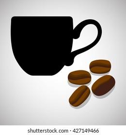 Cofffee icon. drink concept.  Flat illiustration
