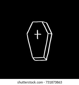 coffin doodle icon
