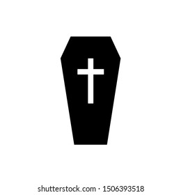 Coffin icon. funeral icon vector