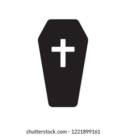 Coffin icon. Trendy Coffin logo concept on white background from Insurance collection. Suitable for use on web apps, mobile apps and print media.