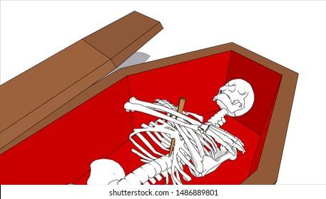 Vampire Coffin Images, Stock Photos & Vectors   Shutterstock