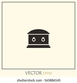 Coffin Vector Icon.