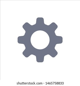 Cog, Setting, Gear  Flat Color Icon. Vector icon banner Template. Vector Icon Template background
