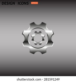 Cog Settings. icon. vector design