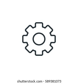 Cog vector icon, setting symbol. Modern, simple flat vector illustration for web site or mobile app