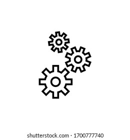 cog wheel icon vector illustration outline style design. isolated on white background
