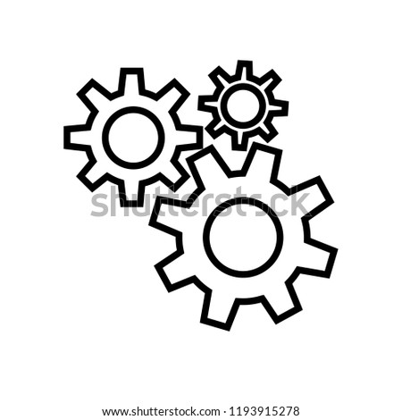 Cog Wheels Vector Icon Set Mechanism Stock Vector Royalty Free