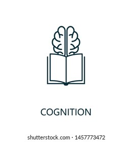 Cognition thin line icon. Creative simple design from artificial intelligence icons collection. Outline cognition icon for web design and mobile apps usage.