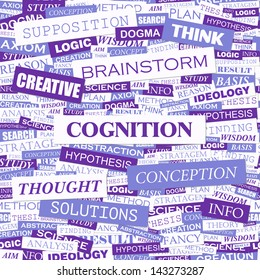 COGNITION. Word cloud concept illustration.