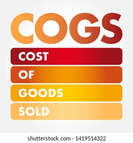 COGS - Cost of Goods Sold acronym, business concept background