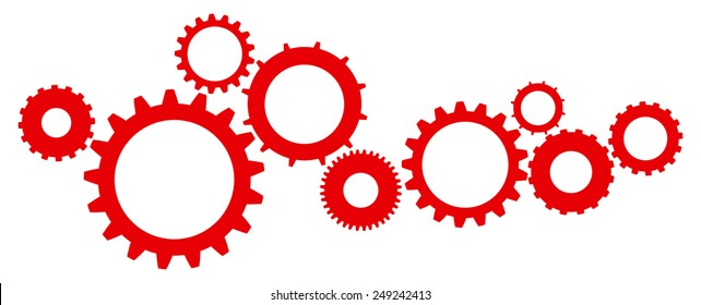 Cogs And Gears Mechanism Icon Isolated Vector Illustration