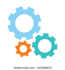 cogs icon. flat illustration of cogs vector icon for web