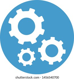 Cogs icon and vector. Flat illustration of cogs vector. Icons.