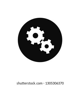 Cogs rounded icon