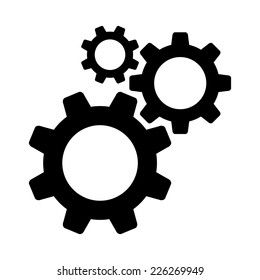 Cogwheel gear mechanism vector settings vector icon