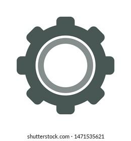 cogwheel icon. flat illustration of cogwheel - vector icon. cogwheel sign symbol