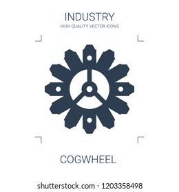 cogwheel icon. high quality filled cogwheel icon on white background. from industry collection flat trendy vector cogwheel symbol. use for web and mobile