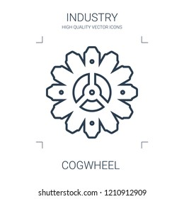 cogwheel icon. high quality line cogwheel icon on white background. from industry collection flat trendy vector cogwheel symbol. use for web and mobile