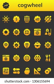 cogwheel icon set. 26 filled cogwheel icons.  Simple modern icons about  - Settings, Gear, Pulley, Setting, Cogwheel