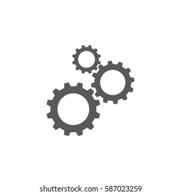 Cogwheel  icon, settings vector illustration