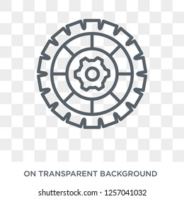 Cogwheel icon. Trendy flat vector Cogwheel icon on transparent background from Programming collection. High quality filled Cogwheel symbol use for web and mobile