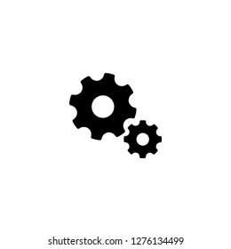 cogwheel icon vector. cogwheel sign on white background. cogwheel icon for web and app