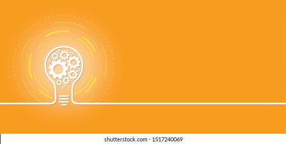 Cogwheel lamp idea ideas wheel vector icon icons sign signs fun funny Cogwheel gear gears mechanism Service cogs cog settings setting signs brain pictogam planning team work people banner line pattern