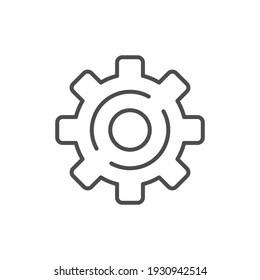 Cogwheel line icon or mechanical concept