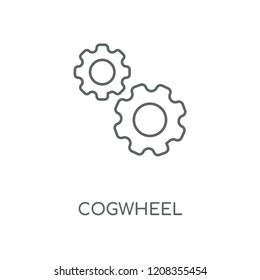 Cogwheel linear icon. Cogwheel concept stroke symbol design. Thin graphic elements vector illustration, outline pattern on a white background, eps 10.