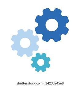 Cogwheel linear icon. Cogwheel concept stroke symbol design. Thin graphic elements vector illustration