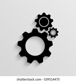 Cogwheel vector icon with  shadow