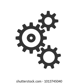 cogwheels, gears vector flat illustration on white background