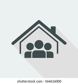 Cohabitation concept - Vector web icon