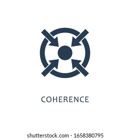 Coherence. Simple element illustration.Vector  icon isolated on white background.