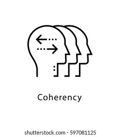 Coherency Vector Line Icon