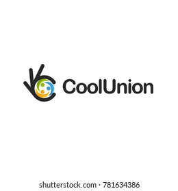 Cohesion icon. Ok symbol, Okay vector logo, high quality