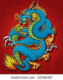Coiled Chinese Dragon
