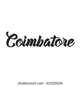 coimbatore, text design. Vector calligraphy. Typography poster. Usable as background.